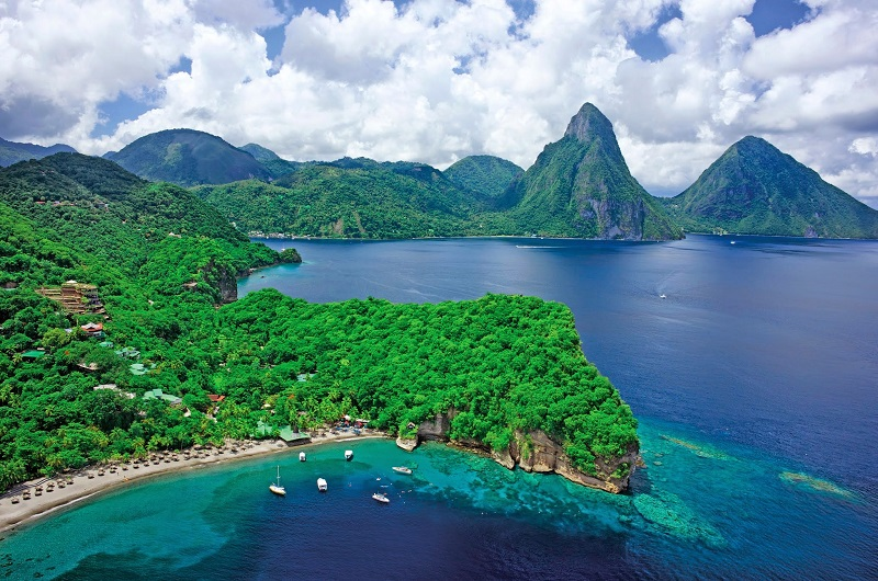 St Lucia-Anse Chastanet-Aerial