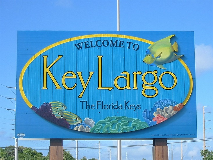 Key Largo-Welcome Sign