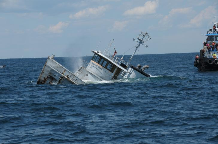 Sinking the James J Francesconi-NC Coast